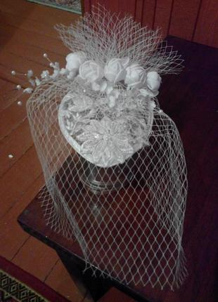 Свадебная таблетка, шляпка.