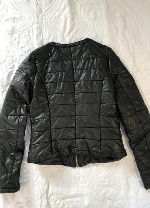 Куртка з еко шкіра4 фото