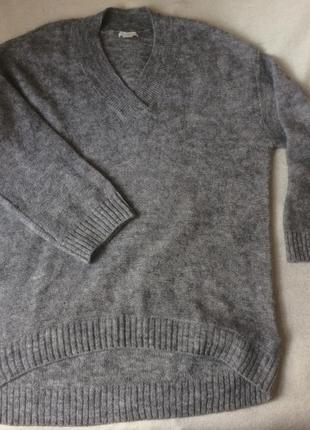 Пуловер кофта шерсть мохер oversize h&m
