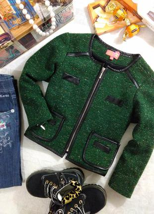 Детский блейзер, укороченный пиджак на молнии на рост 104-110см, испания