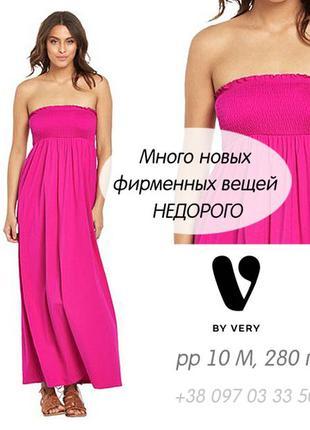 V by very - натуральный сарафан-макси, платье в пол, бюстье, с открытой спиной, хлопок
