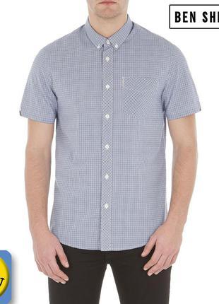 Новая дизайнерская рубашка ben sherman р. s - m. оригинал, сток, в мелкую клетку