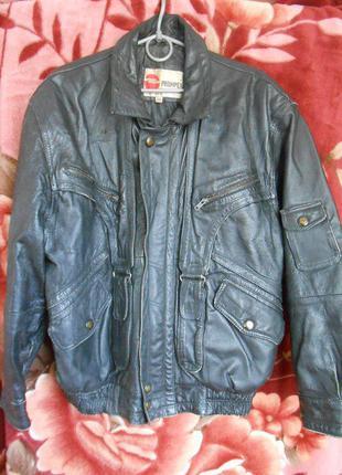 Байкер. кожаная мужская куртка , proimpex, 50 размер