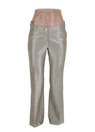 Прямые брюки с отливом цвета мокко 17297