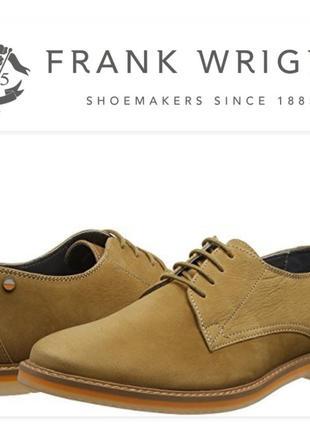 Frank wright туфли мужские кожа размер us11 бренд британия