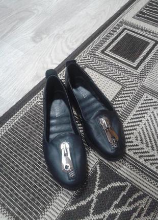 Туфли, лоферы, балетки кожаные, натуральная кожа firagema