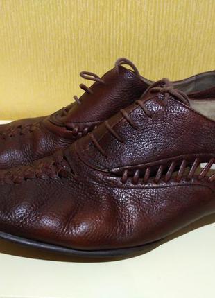 Кожаные открытые мужские туфли mascotte р. 43
