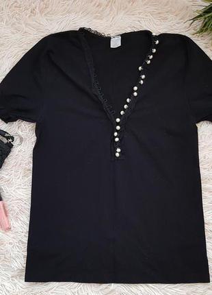 Элегантная кофточка блуза с пуговками-жемчужинами распродажа