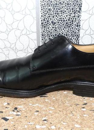 Кожаные лаковые туфли clarks, 43 р.
