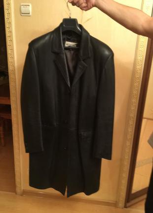 Супер качественное кожаное пальто