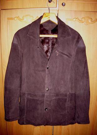 Дубленка-пиджак, наруральный мех и замша