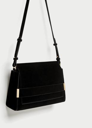 Стильная замшевая сумка от zara