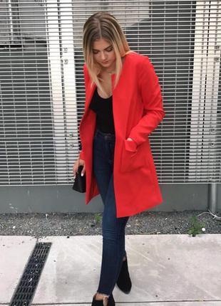 Весеннее пальто накидка пиджак h&m р 44