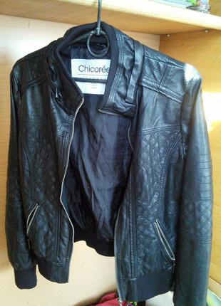 Крутая куртка chicore кожзам s, можна xs