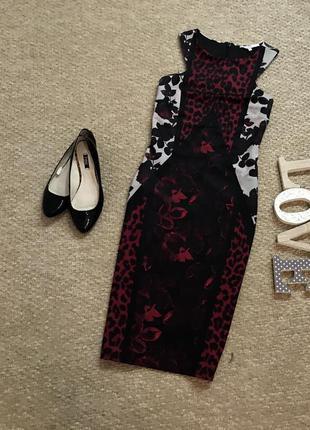 Стильное платье миди с плотной ткани next