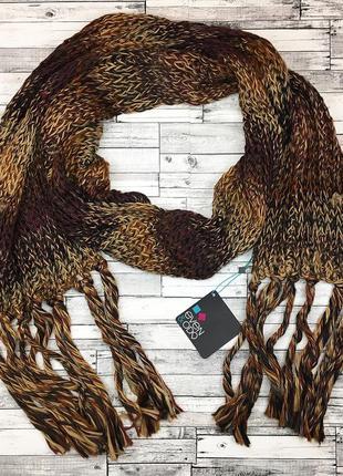 Тёплый уютный вязаный длинный шарф германия