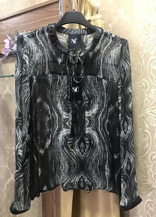 Блуза абстрактной расцветки nu denmark