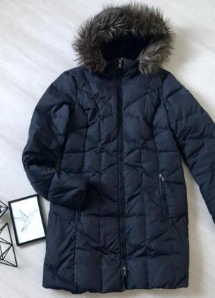 Крутой чёрный пуховик куртка esprit 50% пух зимняя куртка