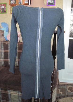 Платье с молнией по спинке , разм. 44- 46 , котон преимущественно