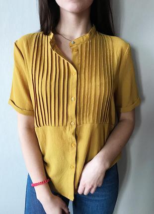 Блуза трендового горчичного цвета vero moda m