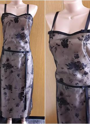 Кружевной черно бежевый костюм  платье  коктельное