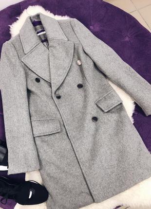 Стильное теплое шерстяное пальто италия в наличии три цвета