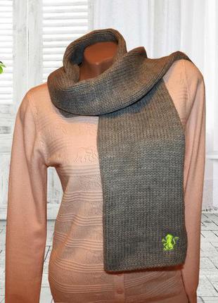 Теплый серый шарф с вышивкой для подростка от takko fashion германия