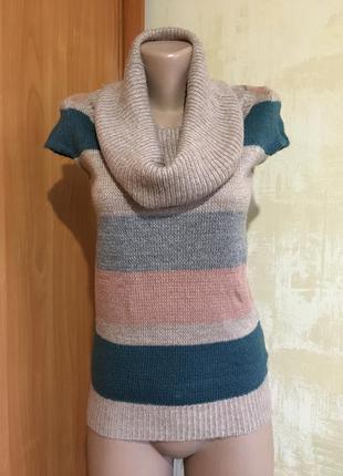 Стильный мягкий свитер с хомутом!