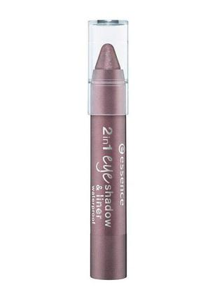 Essence 2 in 1 eye shadow & liner waterproof 06 she's got the mauve