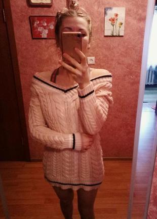 Теплое плать-туника