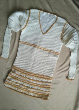 Платье теплое ручная работа