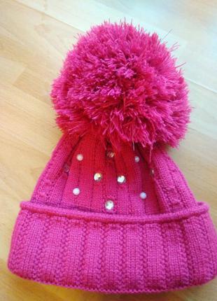 Зимняя шапка розовая