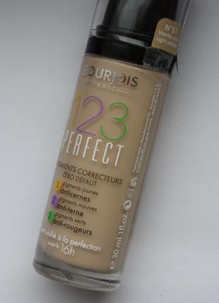 Тональный крем bourjois 123 perfect