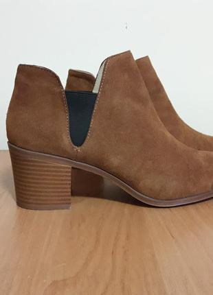 Ботинки челси натуральная замша zara