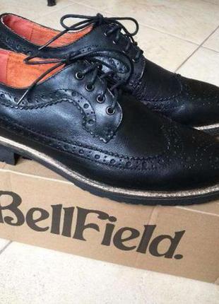 Новые крутые кожаные туфли броги bellfield