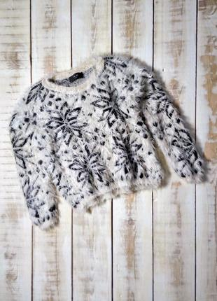 Пушистый свитер травка ax paris