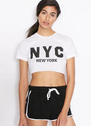 Topshop кроп топ new york