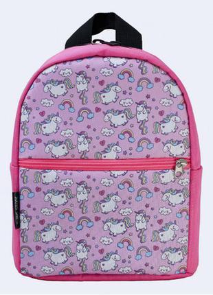 Детский рюкзак - розовый с единорогами