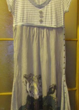 Оригинальное летнее платье размер м-л