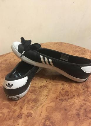 Adidas балетки/кеды оригинал кожа