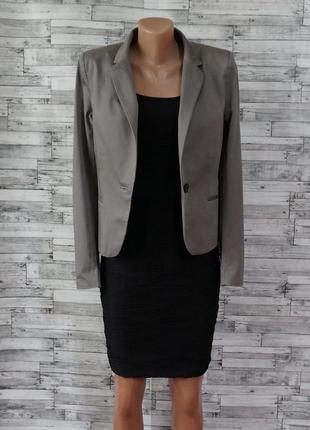 Пиджак жакет приталенный серый