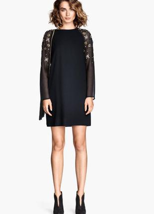 Элегантное шифоновое платье р.s-m-l