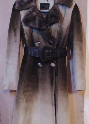 Пальто из стриженого меха мутона - harmanli