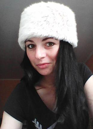 Шикарная пудровая шляпа, шапка из меха