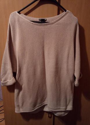 Тонкий свитер over size