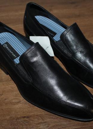 Кожаные туфли rockport men´s dialed in slip on shoe, 43 размер