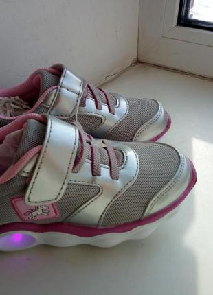 Кроссовки на девочку led р. 29 размер lupilu германия