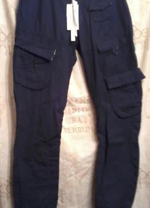 Итальянские ДЖИНСЫ ,от  Fracomina,с накладными карманами,облегченные,темно синие