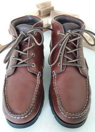 Ботинки timberland 40 (26 см.) мокасины, топсайдеры, кожа