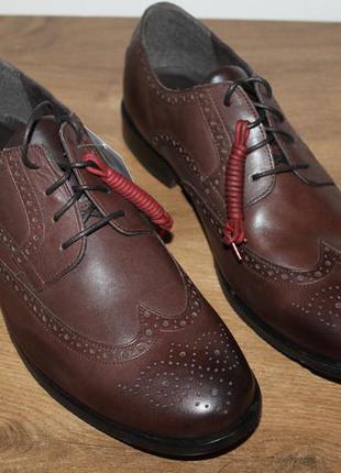 Кожаные ботинки, броги rockport castleton wingtip lace-up flats
